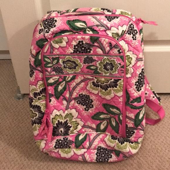 37764338e1 Vera Bradley Laptop Backpack - Priscilla Pink. M 5a3c78739a9455555f00969a